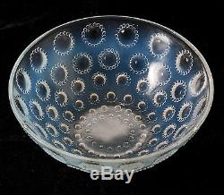 Rene Lalique French Art Deco Asters Opalescent Glass Bowl c1935