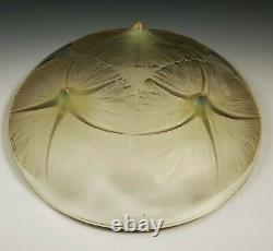 Rene Lalique Volubilis Yellow Opalescent Art Glass Shallow Bowl 383 Crystal 1921
