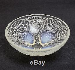 Rene R Lalique Coquilles Opalescent Art Glass Shell Bowl 5 c. 1920