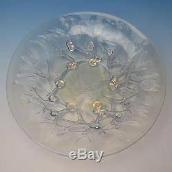 Rene R Lalique France Opalescent Art Glass Gui Pattern 12 Footed Bowl