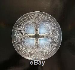 Rene R Lalique matching plate and bowl. Art Deco period c1920's signed