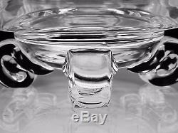 STEUBEN ART GLASS LOW FOOTED BOWL With SCROLLED FEET #7967 JOHN DREVES