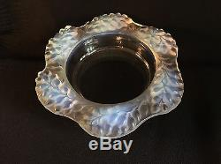 STUNNING & RARE RENE LALIQUE OPALESCENT GLASS BOWL CIRCA 1940s SIGNED 10 LONG