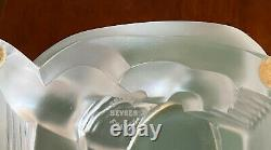 Sevres Art Deco Frosted Crystal Woman Holding Up A Bowl Excellent Condition