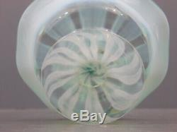 Signed Lct Tiffany Favrille Art Glass Green Pastel Berry Bowl Aquamarine 1920