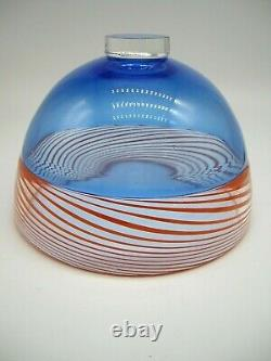 Signed dated James Maskrey contemporary British art hot glass bowl Collectable