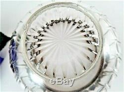 Sterling Silver Bowl Antique 1880s French Secessionist Art Nouveau Glass Dish
