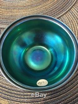 Steuben 3077 Blue Aurene Bowl. Signed Stamped And Numbered. Awesome Piece