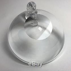 Steuben Crystal Art Glass Olive Dish Snail Bowl Candy Bowl Clear 5 1/4 Signed