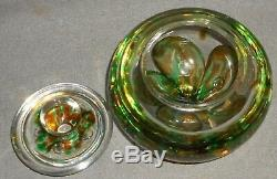 Studio Art Glass KERRY ZIMMERMAN PAPERWEIGHT COVERED BOWL Dated/Signed