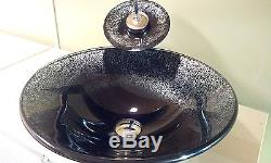 THIS WEEK DEAL- Hand Crafted Bathroom Glass Vessel Art Sink Bowl Basin VG006