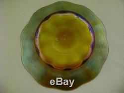 Tiffany Art Glass Gold Favrile Bowl Signed Marked 5-1402