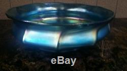Tiffany Favrille Blue Art Glass Bowl