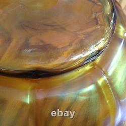 Tiffany L. C. T. Favrile Gold Iridescent Art Glass Compote/Bowl Signed 7inch