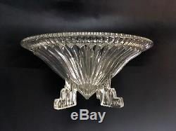 Two Large French Antique Art Deco Glass Mantle Bowls Glassware