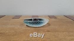 Unique Vintage Murano Glass Sommerso Geode Bowl by Seguso Vetri d' Arte