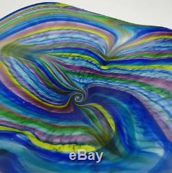 Very Large 25 Hand Blown Glass Art Wall Bowl Platter Murano Style By Dirwood