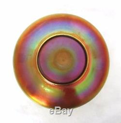 VERY RARE c. 1900 GOLD STEUBEN AURENE ART GLASS BOWL SIGNED