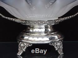 Victorian Brides Basket Bowl With Silver Plate