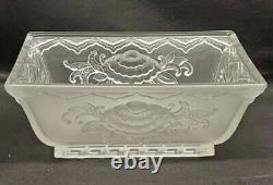 Verlys Console Bowl French 1930s Art Deco Frosted Glass