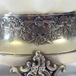 Victorian Silver Plated and Art Glass Bride's Basket 1890's