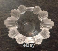Vintage Lalique Cigar Ashtray Frosted Edge Dish Bowl Signed France