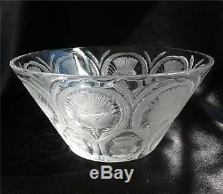 Vintage Lalique Thistle Pattern Bowl Clear & Frosted Thistles