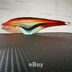 Vintage Murano 20in Art Glass Centrepiece Bowl