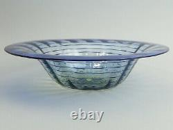 WHITEFRIARS TINTED & THREADED ART GLASS BOWL 1930's