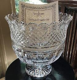 Waterford Irish Crystal Master Cutter Work of Art 10 Triffle Bowl w Certificate