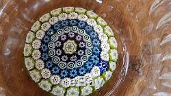 Whitefriars Art glass Paperweight Bowl BEAUTY! Label full lead crystal England